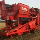 4360 Dewulf RDT 952 2 row potato harvester with bunker
