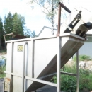 4400 EMVE stainless steel Bunker mit brush washing unit