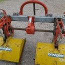 4518 Breviglieri 2 row interrow tillers, row tiller harrow