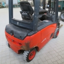 4555 Linde E20 forklift with box turner / rotator