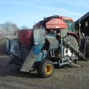 3766 Asa-lift T-10B carrot harvester mounted with bunker