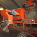 3867 EKKO receiving hopper with roller cleaner and 1200 mm screen grader