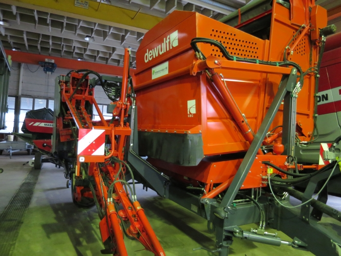 4774 Dewulf GBC carrot harvester 1 row with 3 ton bunker