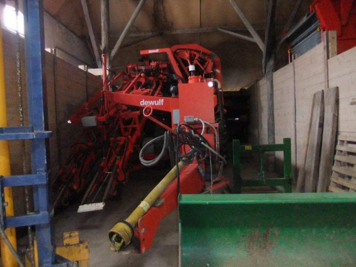 3460 Dewulf 2 row carrot harvester with elevator