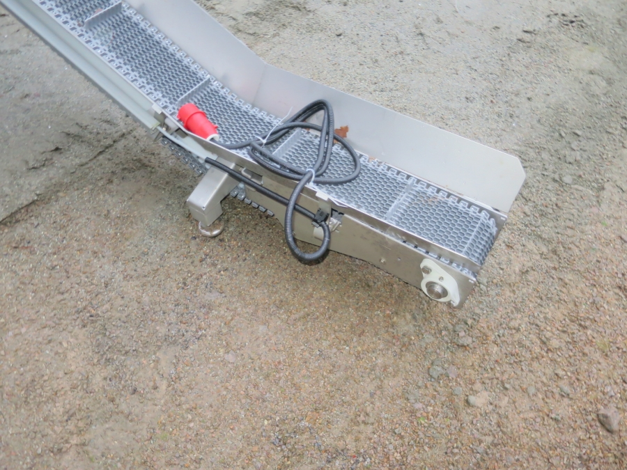 4959 EMVE conveyor for tray / punnets STAINLESS STEEL